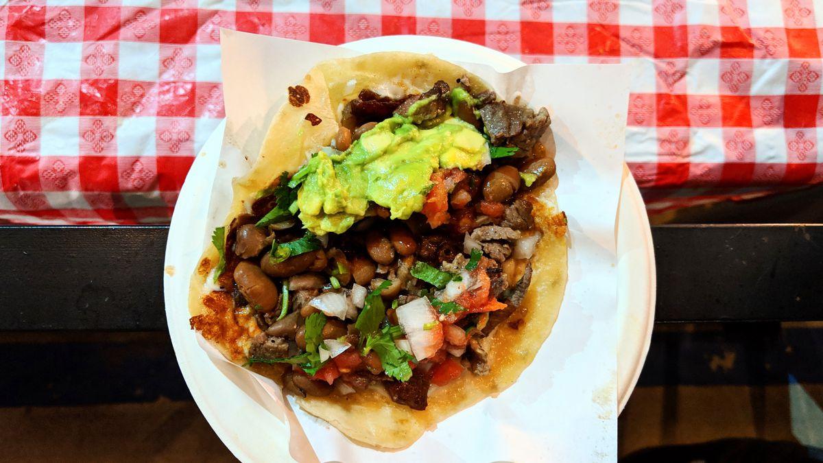 Perron taco at Tacos 1986 in Hollywood