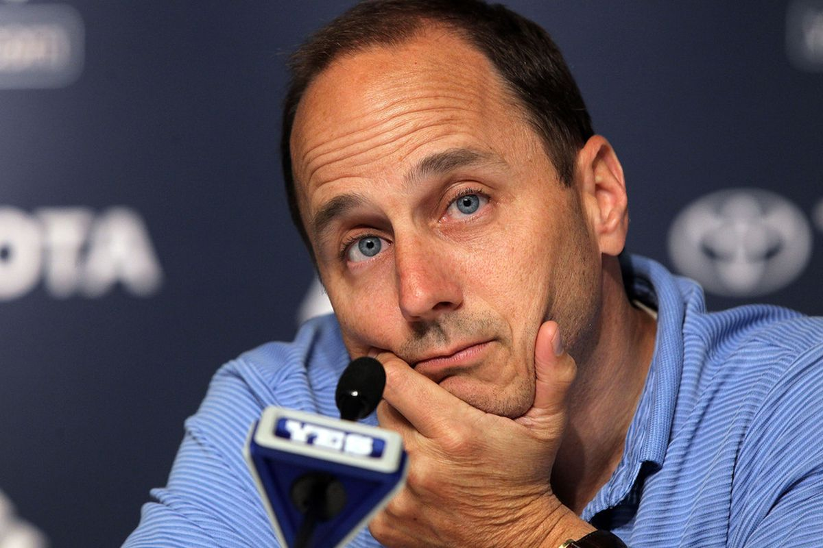 General manager Brian Cashman of the New York Yankees.  (Photo by Jim McIsaac/Getty Images)