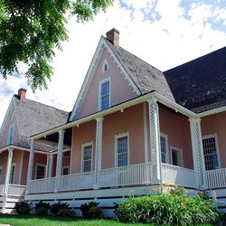 """Brigham Young never lived in his handsome """"forest farmhouse,"""" relocated to its present park site in 1976."""