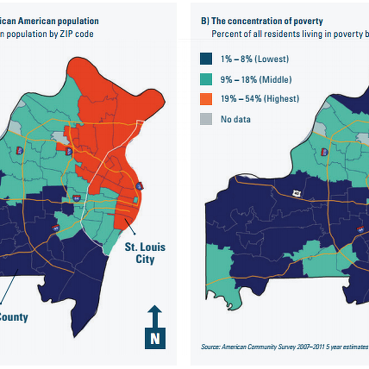 Map The Racial And Economic Divide In The St Louis Area Vox