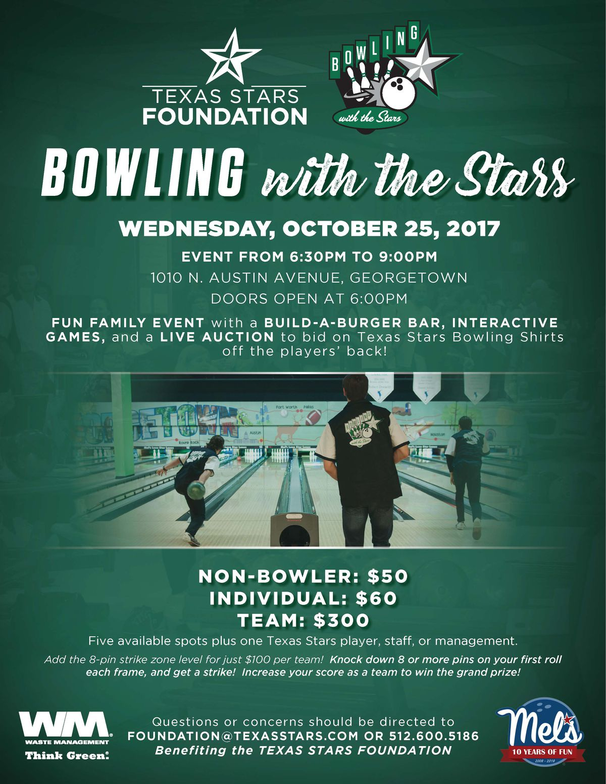 Texas Stars Bowling With the Stars 2017
