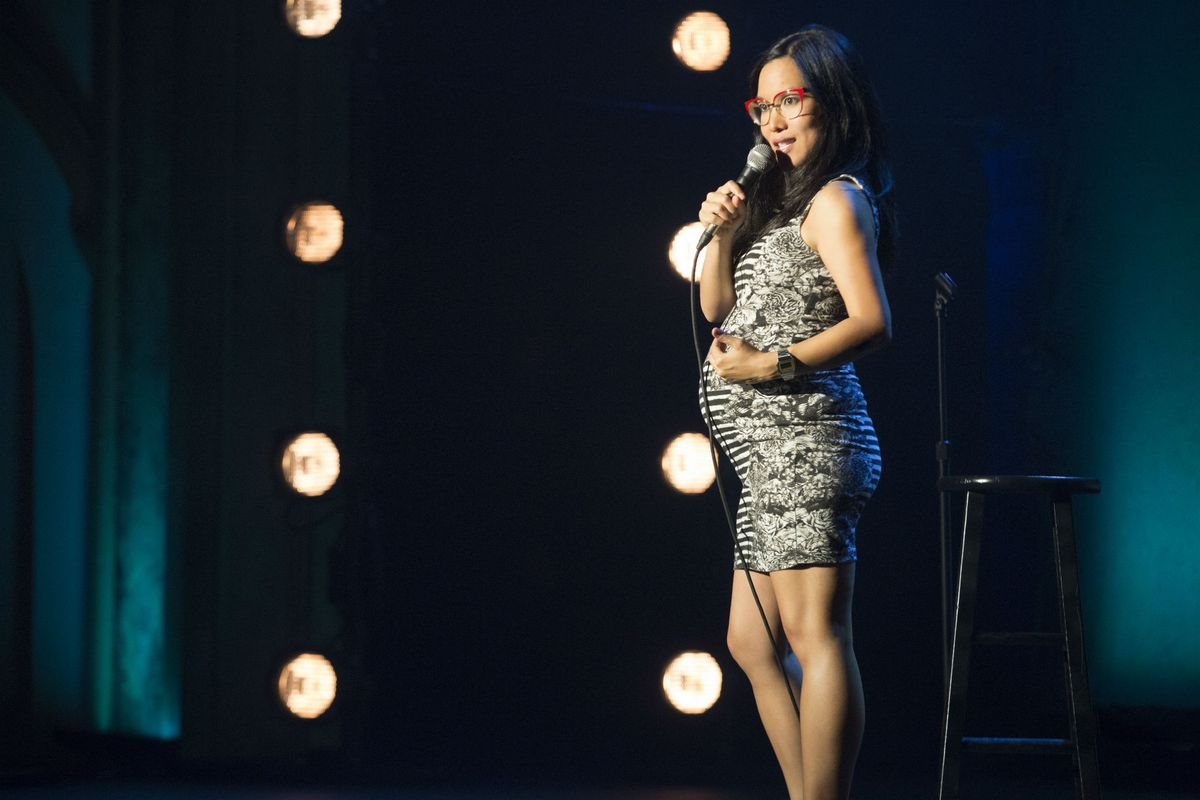 Standup comedian Ali Wong onstage