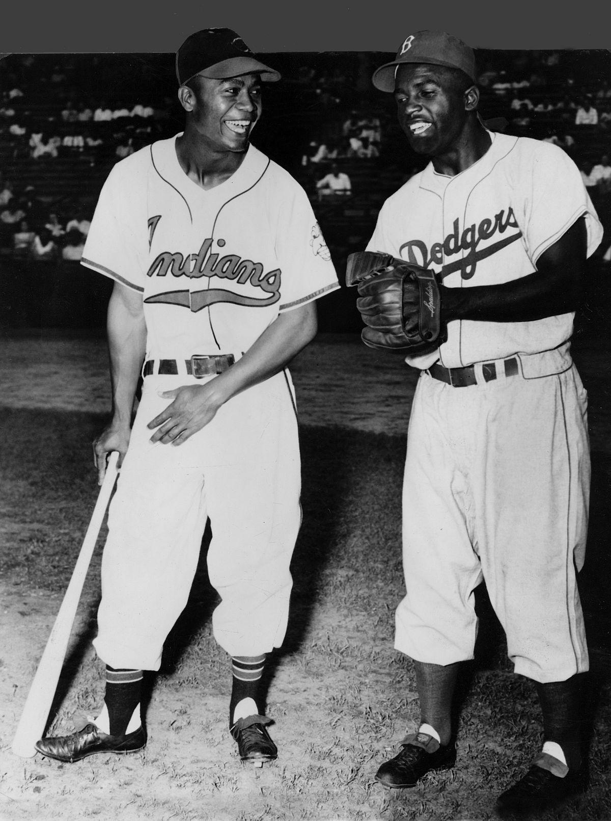Black Baseball Greats, Larry Doby and Jackie Robinson