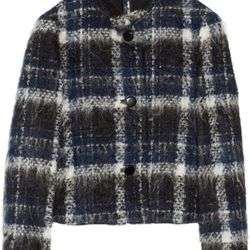 """<a href=""""https://www.theoutnet.com/product/394007"""">Plaid brushed-tweed jacket by Marni</a>,  $198 (was $1,320)"""