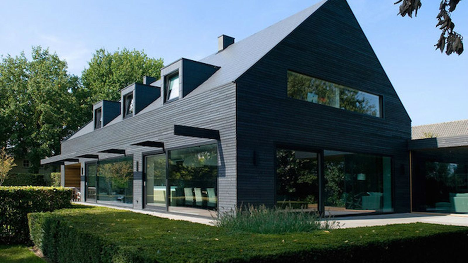 Dark Grey House Exterior Stucco