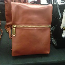 Leather backpack, $120