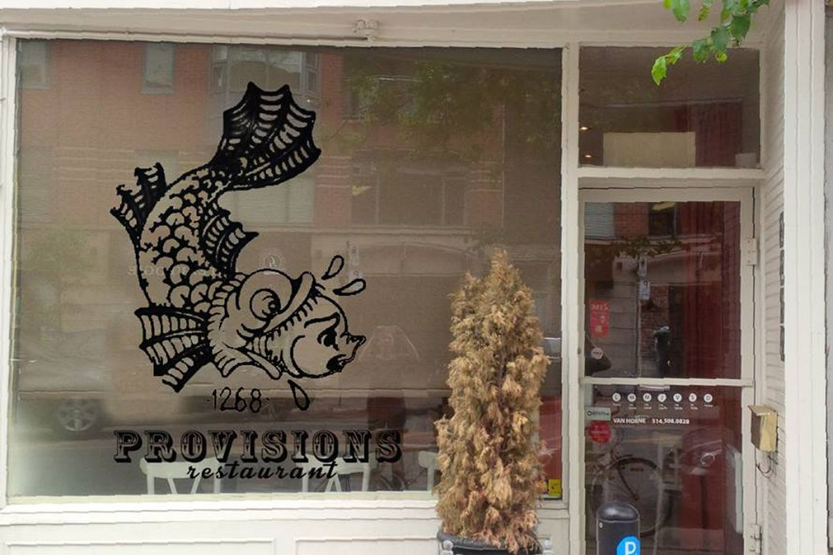 Provisions has a sign now
