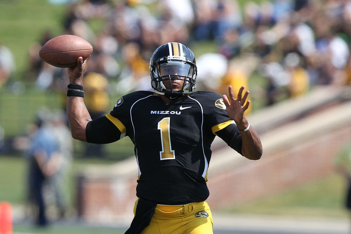 You're going to be 100%, right, QB No. 1? (Photo via Bill Carter)