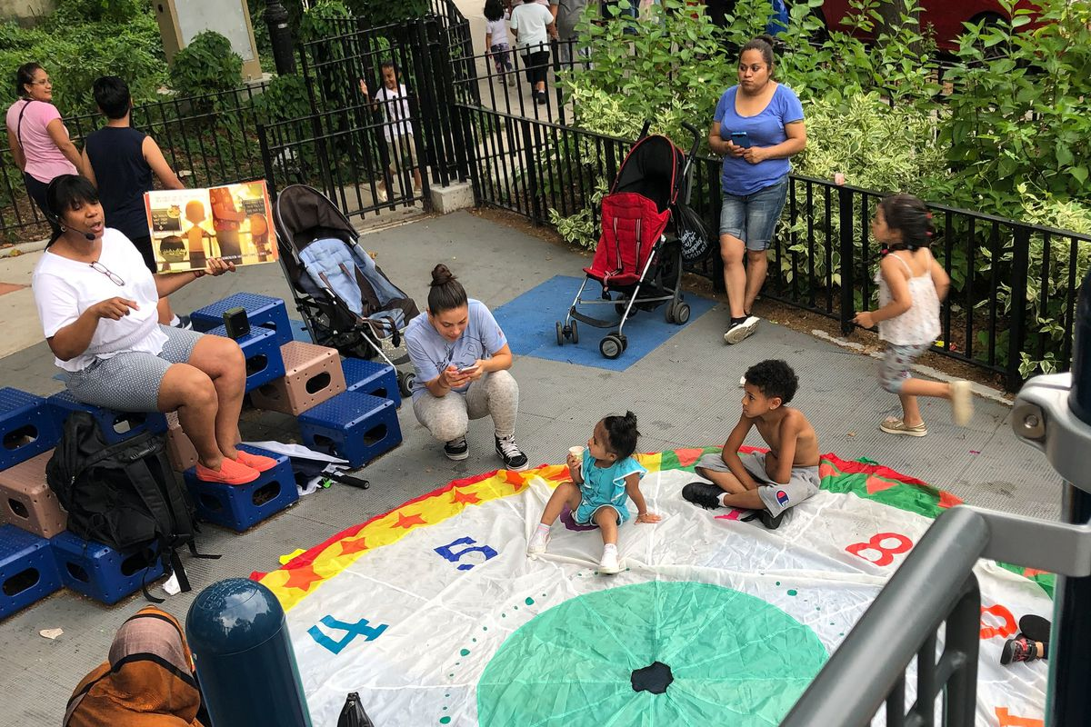 Most Saturdays, Danielle Guggenheim will sit outside and read books aloud to any children that want to stop and listen at her neighborhood farmers market in the Bronx. Guggenheim has taught virtually this year as an elementary special education teacher at P.S. 200, The James McCune Smith School, in Harlem.