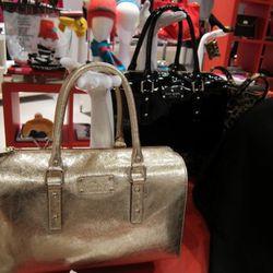 Kate Spade gold bag, love.