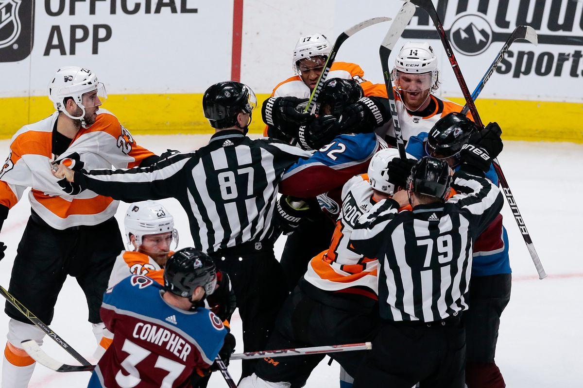 NHL: Philadelphia Flyers at Colorado Avalanche