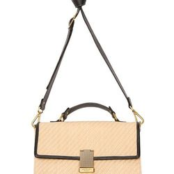 Look 24: Front-Flap Straw Bag in Cream, $39.99