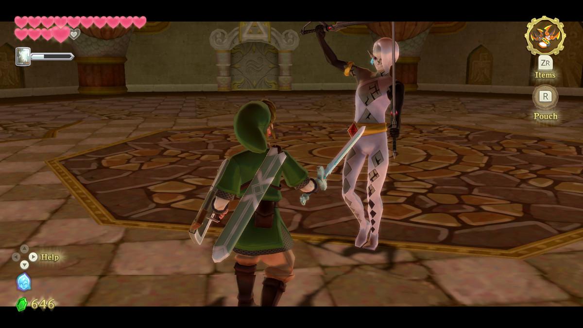 The Demon Lord Ghirahim boss battle in The Legend of Zelda: Skyward Sword HD