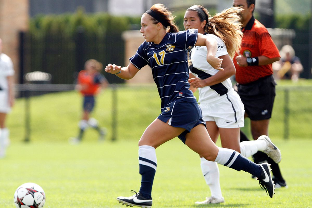 Liz Bartels' second goal of the season lifted Marquette past Providence on Sunday.