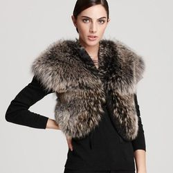 """Christian Cota for Maximilian 16"""" Coyote Fur Vest with Wool Inserts ORIG $1,495.00 SALE $897.00"""