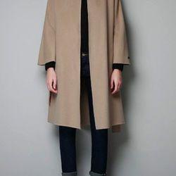 "<a href=""http://www.zara.com/webapp/wcs/stores/servlet/product/us/en/zara-us-W2012-s/317502/1001011/HAND%20MADE%20COAT"">Zara</a> Hand Made Coat, $159.99 (was $199)"