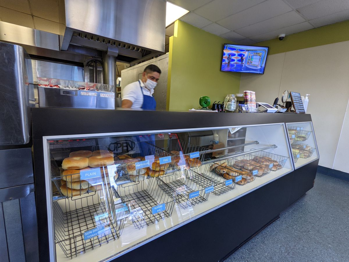 Lox of Bagels counter