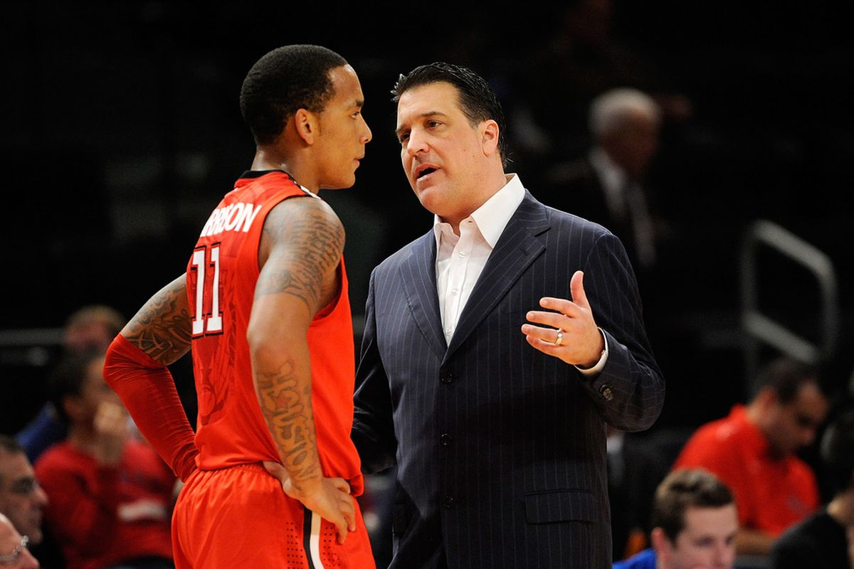 St. John's coach Steve Lavin still has a lot of teaching to do as his young group continues to experience growing pains.  (Photo by Patrick McDermott/Getty Images)