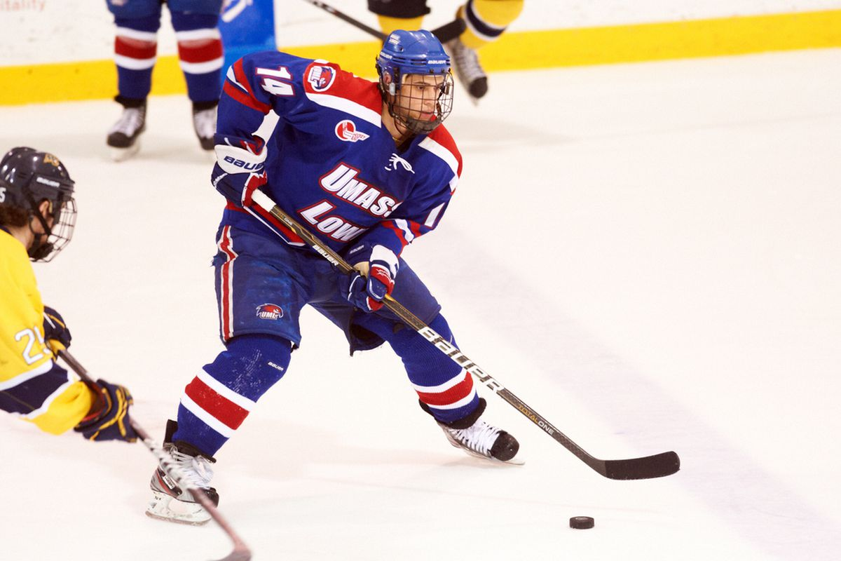 Joseph Pendenza's UMass-Lowell River Hawks are looking to repeat last year's success in Hockey East.