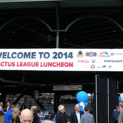 The Cactus League lunch banner at Cubs Park