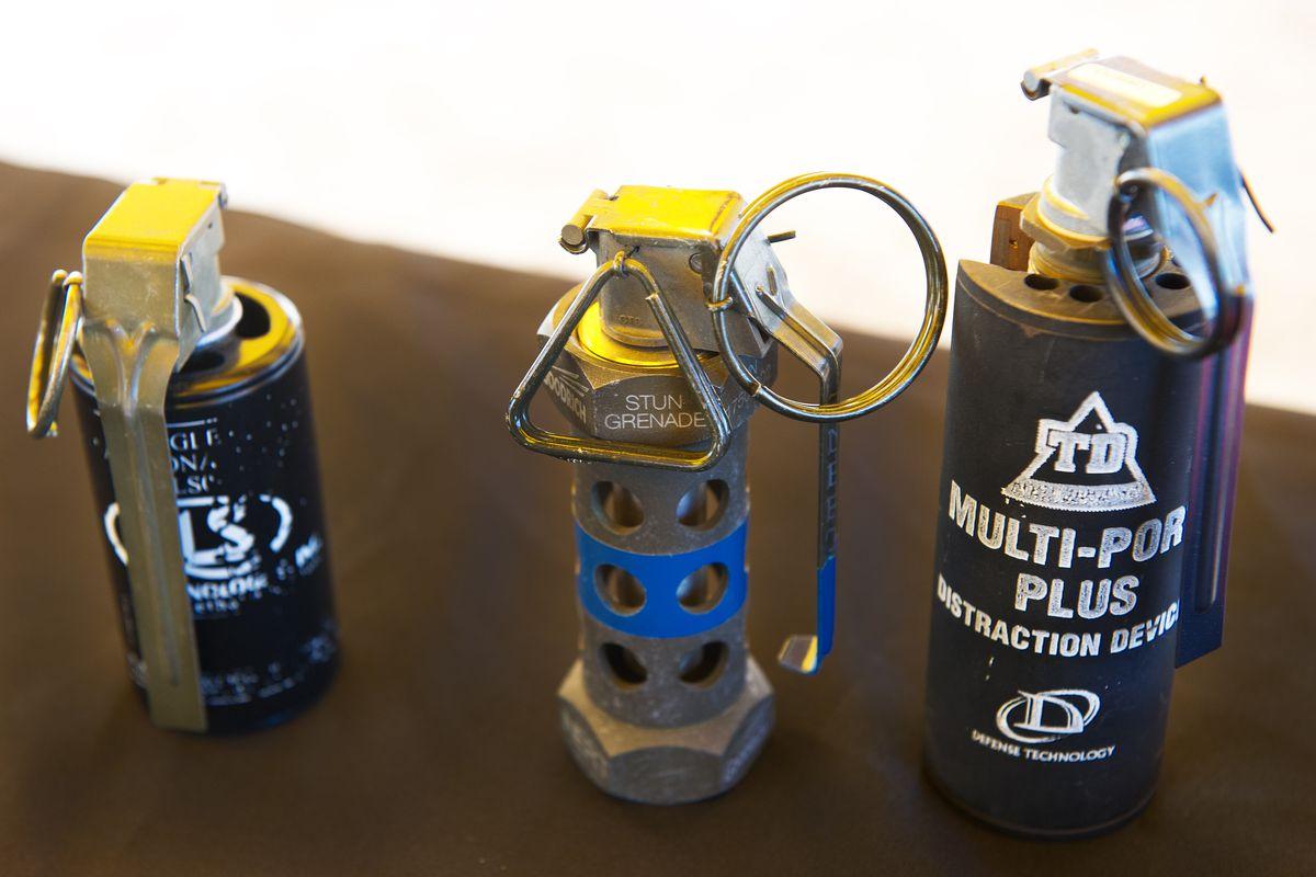 Flashbang grenades.