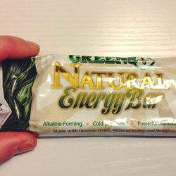 Trying out a new on-the-go snack, Greens Plus energy bar. I liked it! Organic superfoods, healthy fat, and 10g protein. I'll be buying this again.
