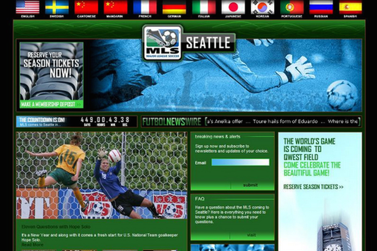 For the first few months of the franchise, it was simply known as MLS Seattle.