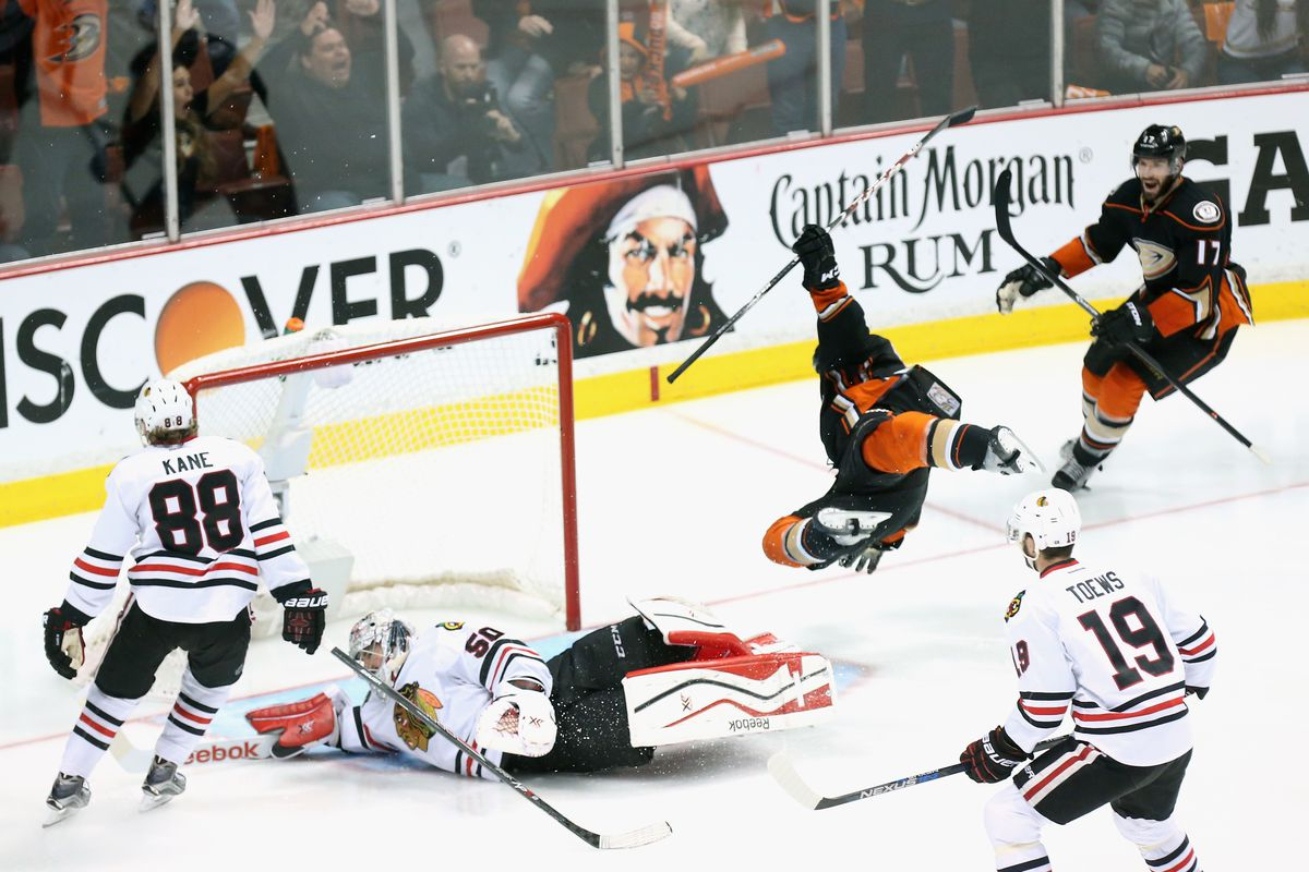 Beleskey shows immense commitment to his goal celebration