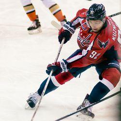 Kuznetsov Keeps Pushing With Puck