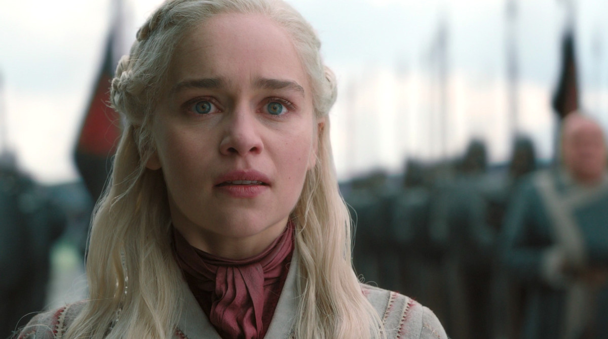 daenerys shocked face game of thrones season 8