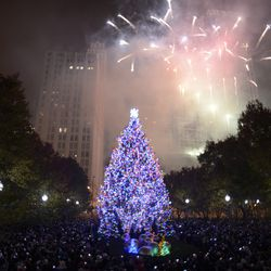 City of Chicago's Christmas tree lighting ceremony in Millennium Park.  | Victor Hilitski/For the Sun-Times
