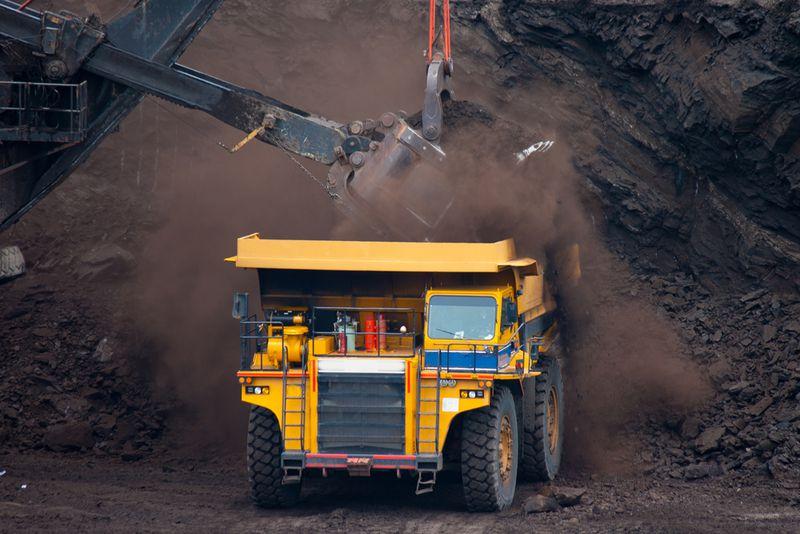 coal mining truck
