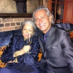 Souza pictured with fabulously chic guest Madame Hale...