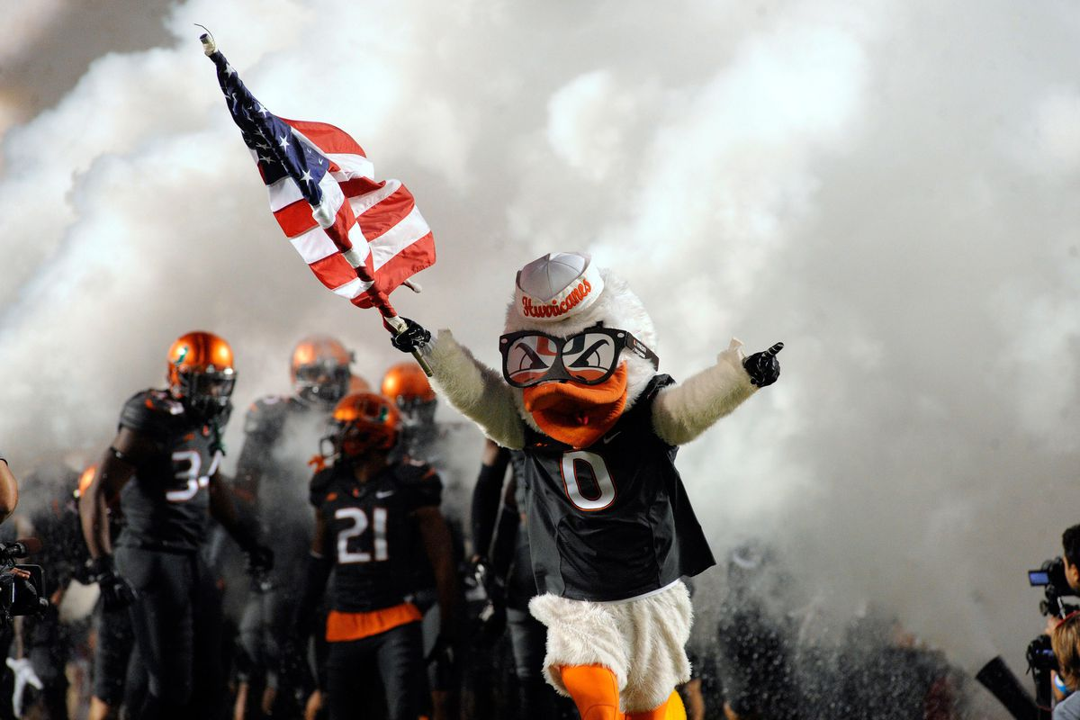 Many recruits were on hand for the Canes game vs FSU. Several will run through the smoke, one day