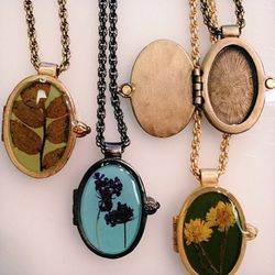 """<a href=""""http://sharidixon.com/"""">Shari Dixon</a>'s USA-made wearables are a perennial Mother's Day favorite, shop owner Elaine Tse tells us. The designer just added pressed flower lockets to her line-up, which are already leading sales at Tselaine."""