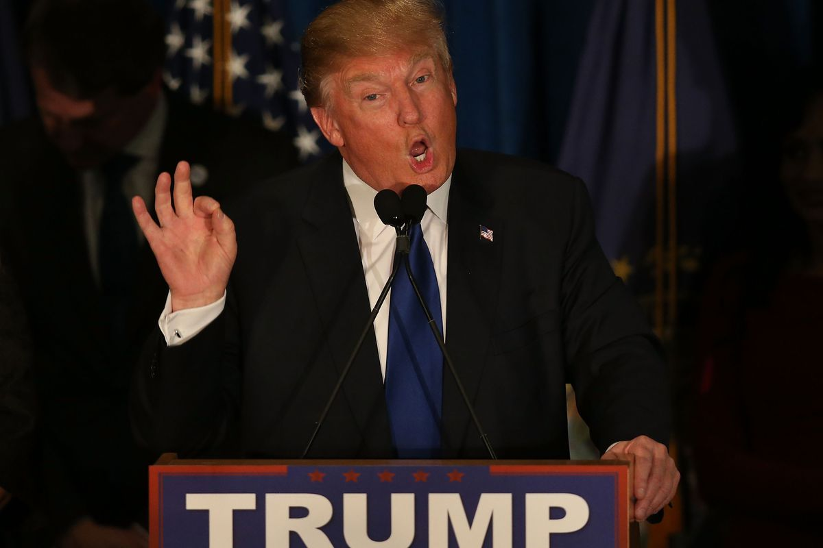 Donald Trump gave a victory speech with some questionable talking points.