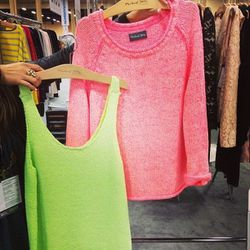 """We have <a href=""""http://www.michaelstars.com/""""target=""""_blank"""">Michael Stars</a> to thank for our new obsession with neon knits."""