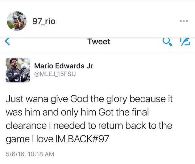 Mario Edwards announcement