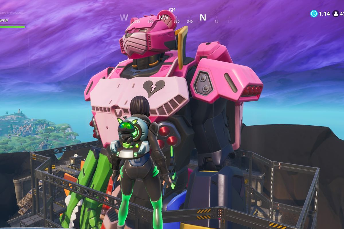 Fortnite's island now has a giant robot - The Verge