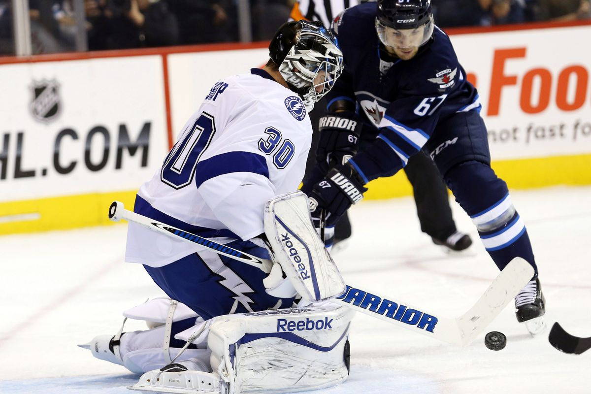 SHOULD it be Ben Bishop in the crease tonight in Winnipeg? How likely is it that Bishop starts back-to-back?