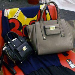 Mini Satchel in Black, $34.99; Carry-All Bag in Grey, $54.99