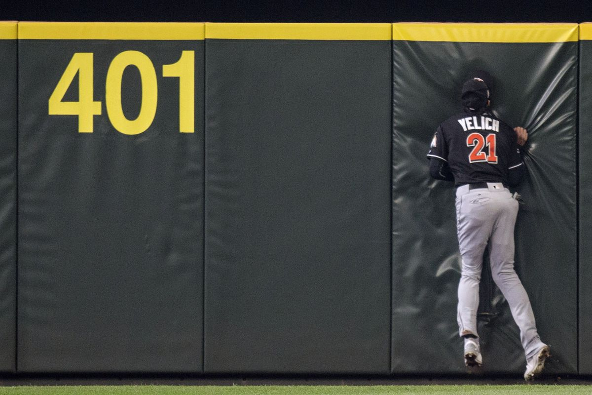 Marlins Run into Wall; Wall's Name is Mitch Haniger ...
