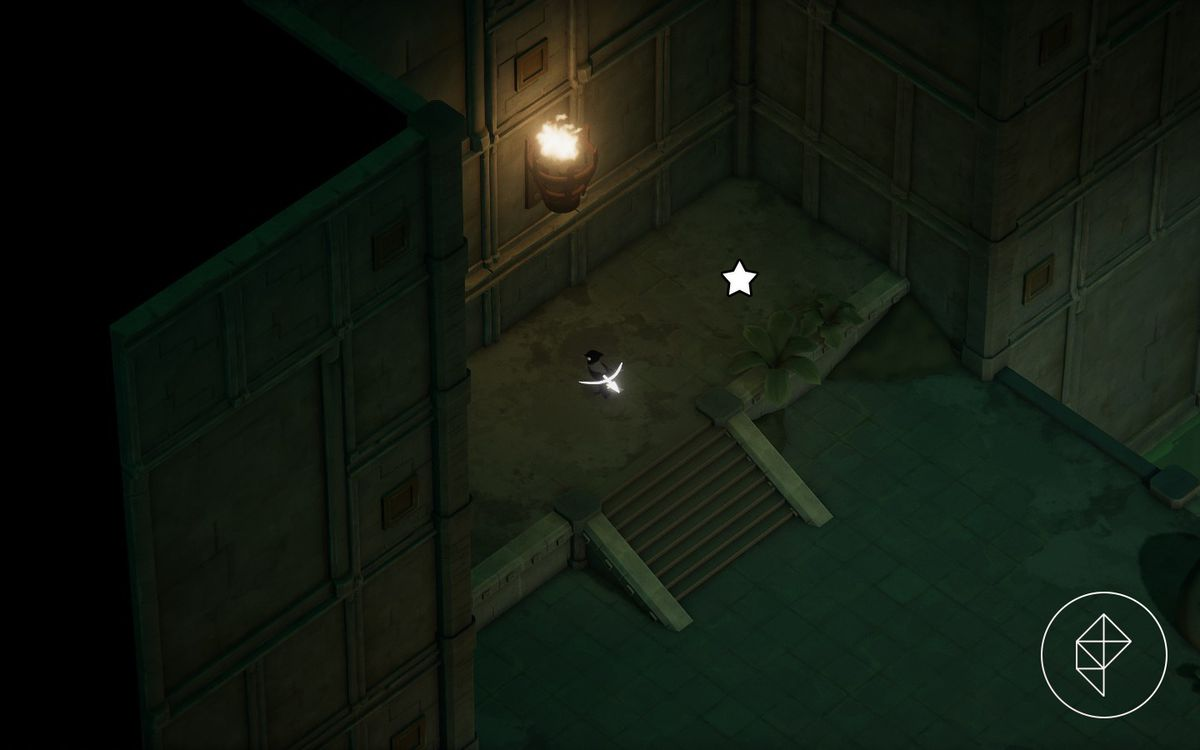 A screenshot of a crow on a ledge with a star marking where to find a Giant Arrowhead.