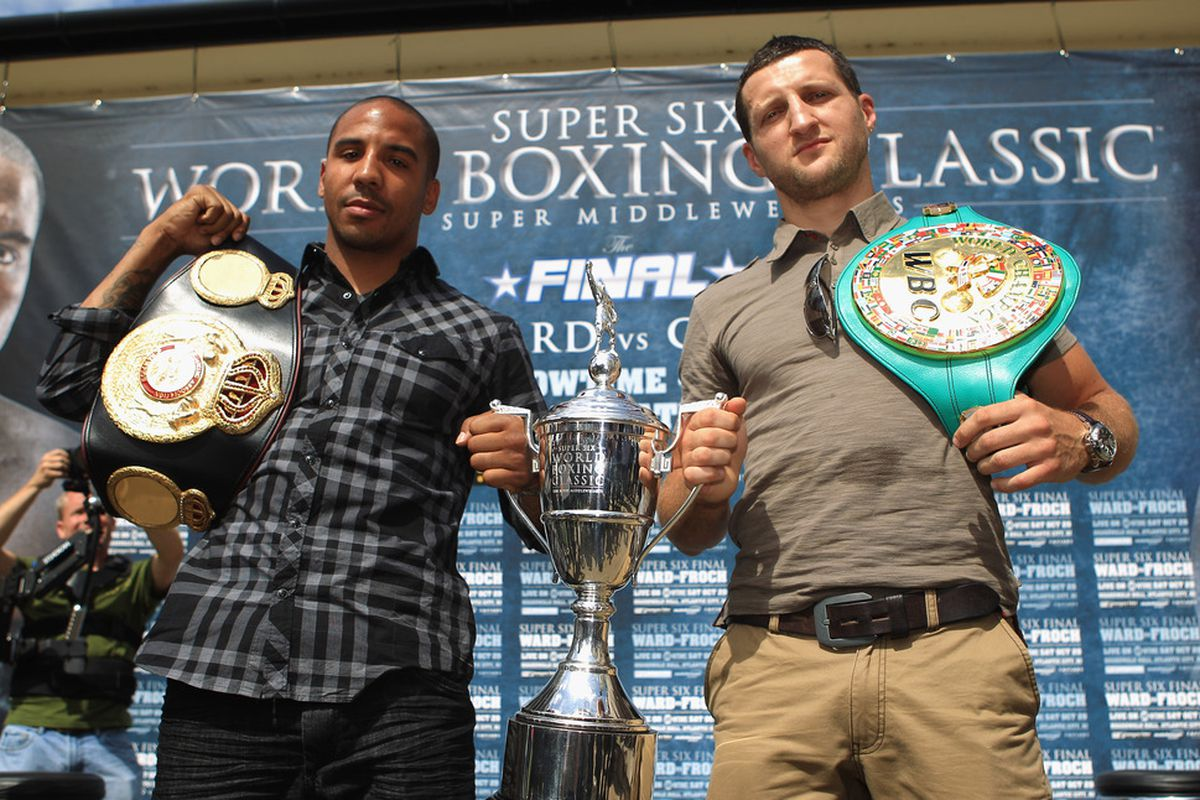 The volume on the Ward vs Froch promotion has turned up. (Photo by Tom Shaw/Getty Images)