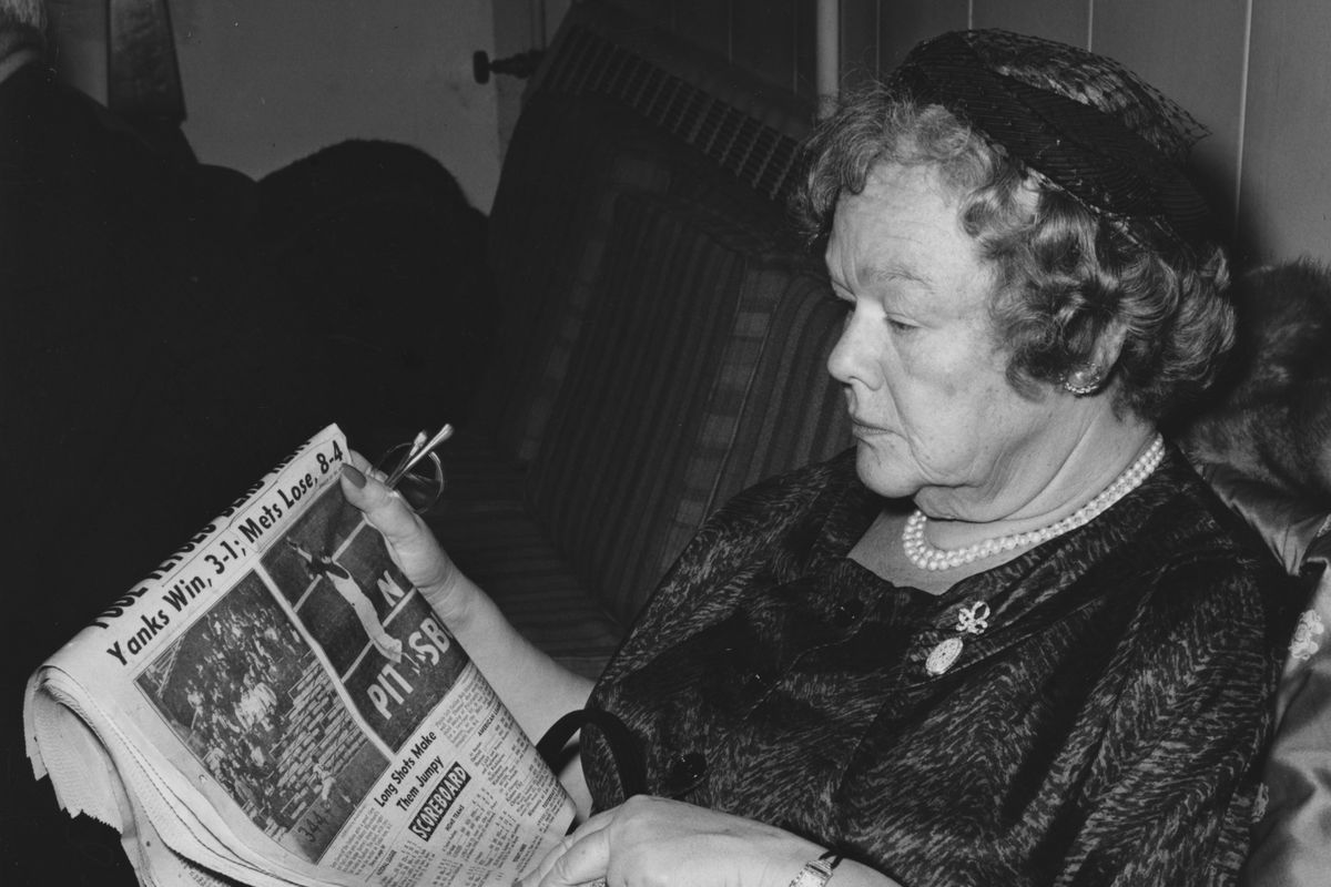 Joan Whitney Payson laments another Mets loss in 1962.