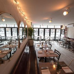 """<b>↑</b> <b><a href=""""http://www.theclevelandnyc.com/"""">The Cleveland</a></b> (25 Cleveland Place) is a favorite of both the food and fashion crowds, with its welcoming atmosphere, linger-friendly garden, and menu of ever-so-slightly reinvented dishes that"""