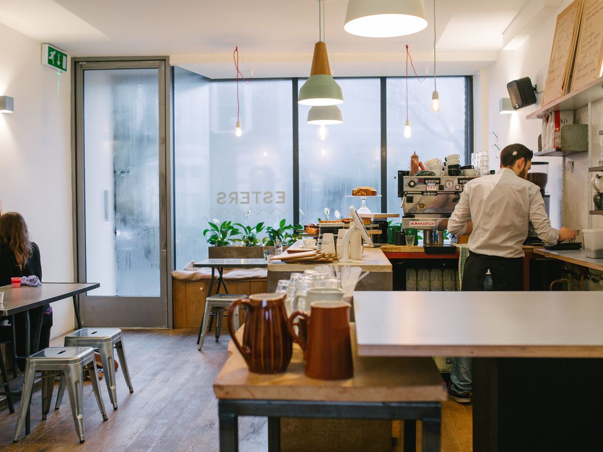 Esters in Stoke Newington, one of the great coffee shops to work from in London
