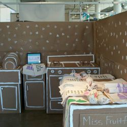 Hands down, the cutest booth at the event. Miss Fruitfly's organic cotton towels.