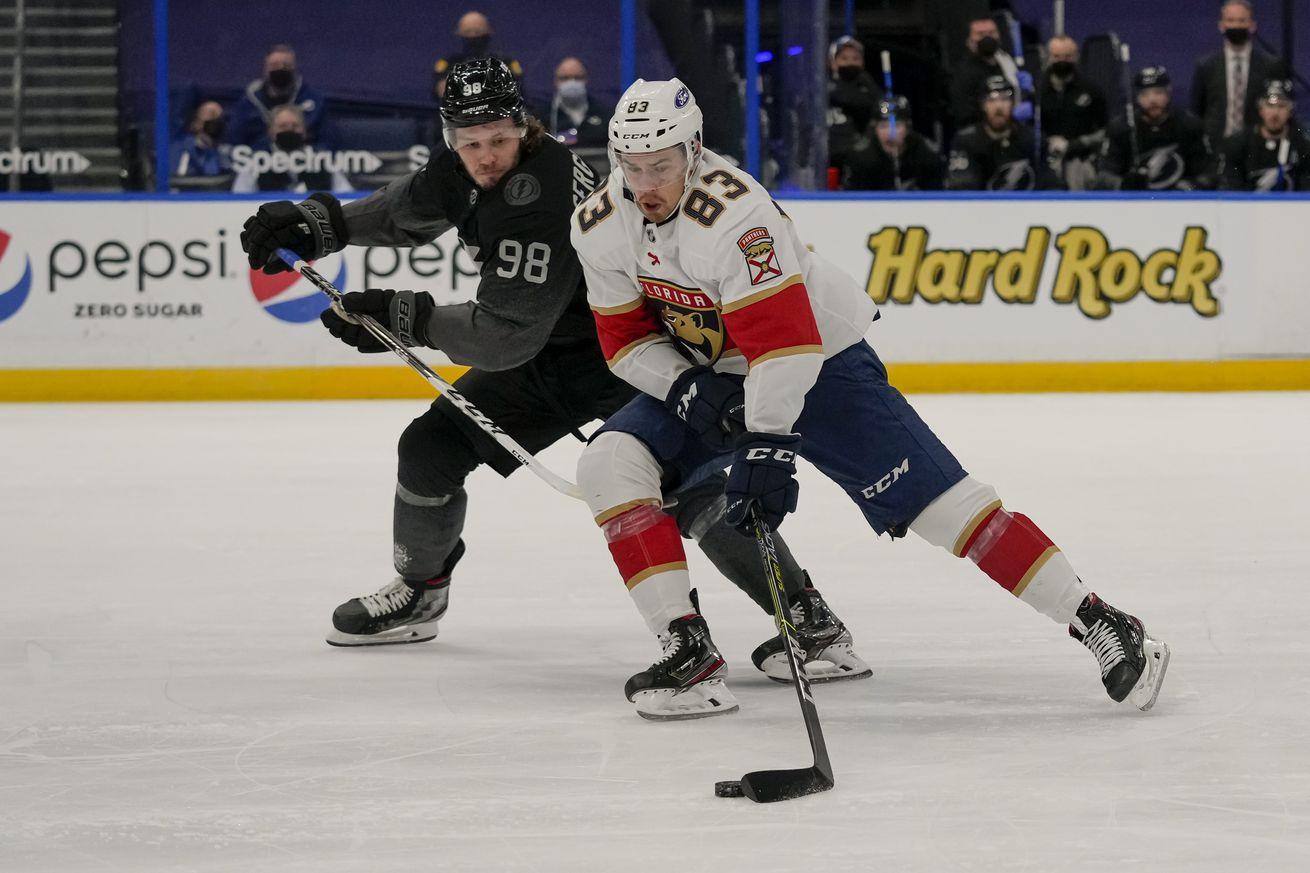 NHL: APR 17 Panthers at Lightning
