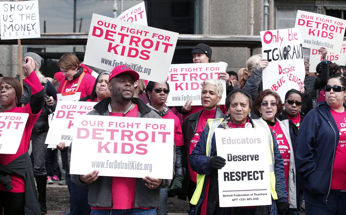Detroit Teachers Hold Walk Out For Second Day